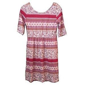 ON NWOT Bohemian Print 100% Cotton Jersey Dress